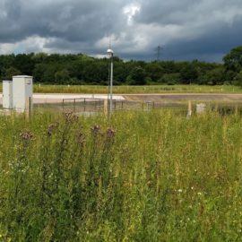 Regenrückhaltebecken in der Eidelstedter Feldmark